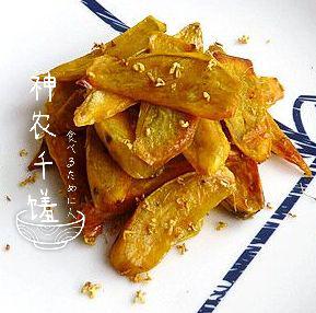 蜂蜜桂花烤薯图片