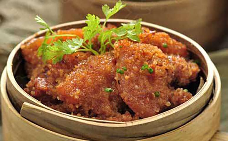 葛粉蒸肉成品图片