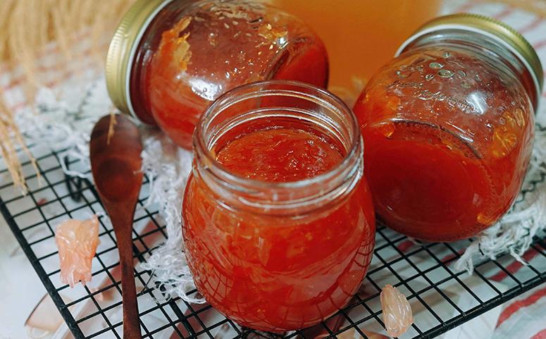 蜂蜜柚子茶成品图片