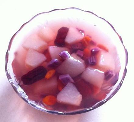 紫薯雪梨蜂蜜水图片