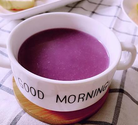 紫薯葛根粉羹图片