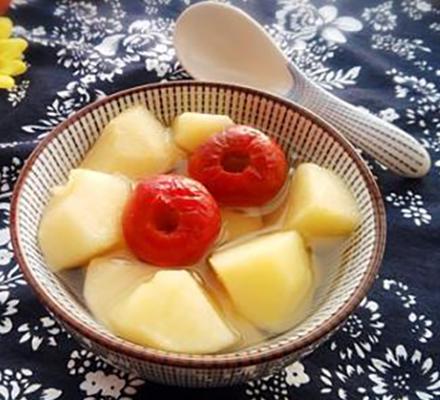 山楂苹果汤图片